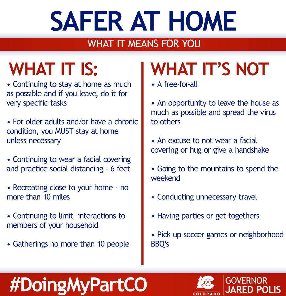 "Governor Jared Polis on Twitter: ""Safer-at-Home means most ..."