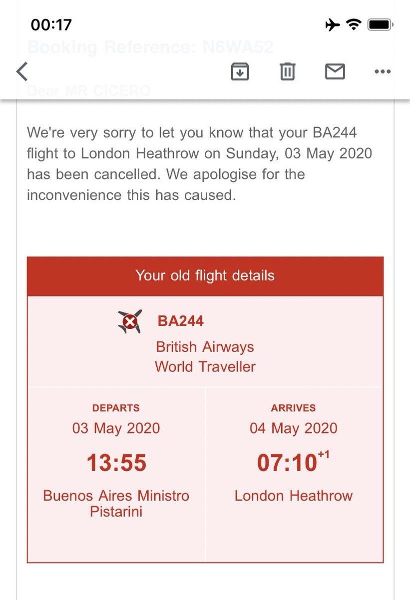 @British_Airways My flight back to London from Buenos Aires on May 3rd was canceled again (I was supposed to fly on March 26), but here I am on Skyscanner seeing that same flight available to purchase.   I'm desperate to come back home!!!  I lost count of how many times my flight was canceled!! https://t.co/sv9qKWvCAc