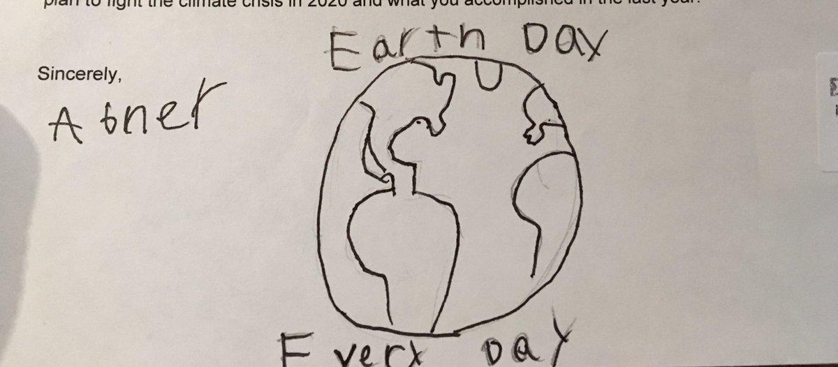 Happy Earth Day @GovPritzker! Letter 137 #EarthDay2020 #EarthDayAtHome #EarthDay