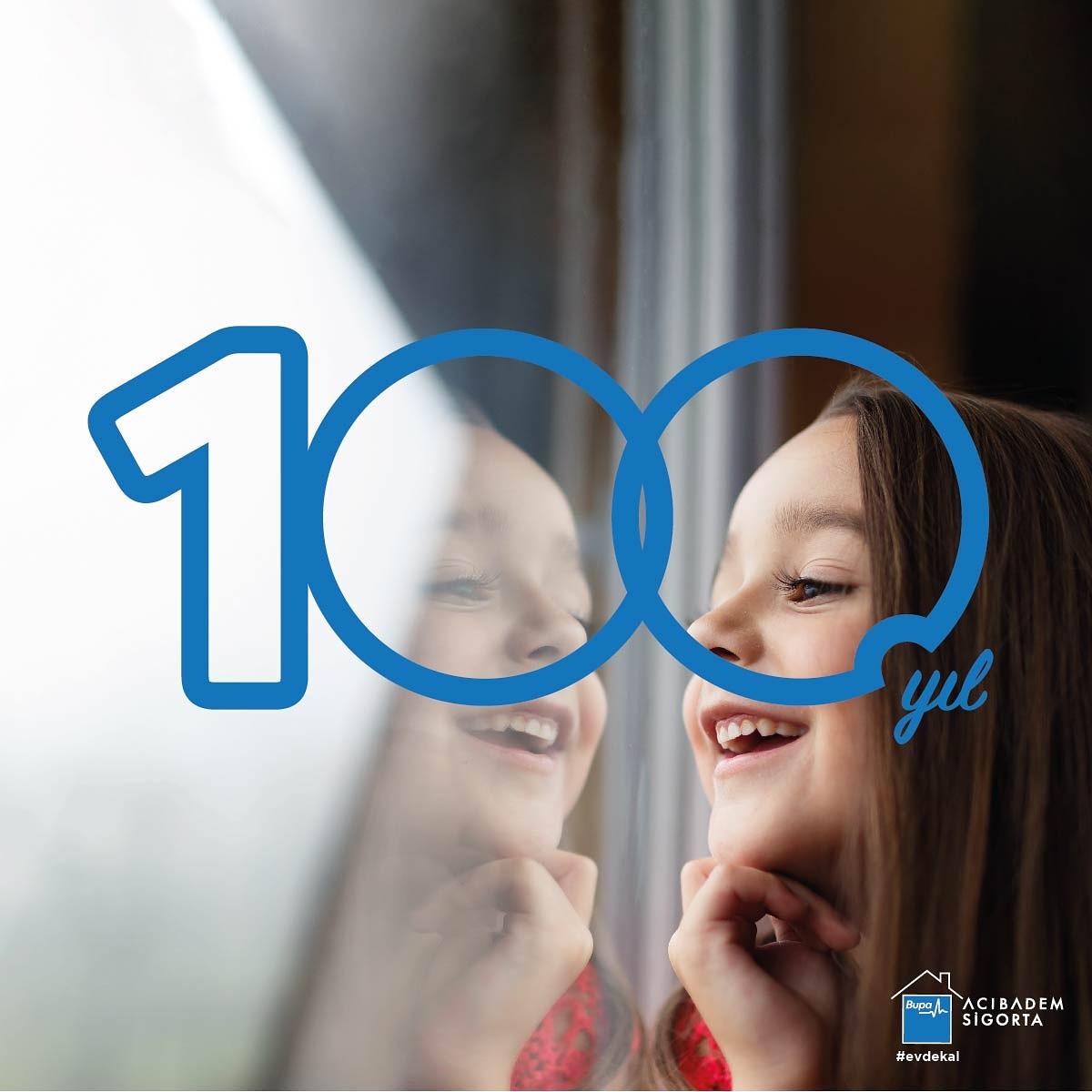 """""""Ulusal Egemenlik ve Çocuk Bayramımızın"""" 100. yılını sokaklarda olamasak da, hep birlikte balkonlardan saat 21:00'de bayraklarımızla, İstiklal Marşımızı söyleyerek kutlayacağız.🇹🇷 Bayramımız kutlu olsun.  #BupaAcıbademSigorta #YanyanaOlmasakdaBeraberiz #23NisanKutluOlsun #100YIL https://t.co/IBoJ6M5yay"""