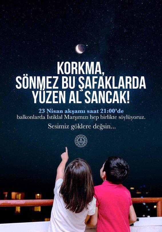#23NisanKutluOlsun  Atatürk'ten bütün çocuklara armağan 23 Nisan Ulusal Egemenlik ve Çocuk Bayramımız ve Türkiye Büyük Millet Meclisi'mizin açılışının 100. onur yılı kutlu olsun. Milletimizin egemenliği ve çocuklarımızın bayram sevinci daim olsun. https://t.co/DAzeMeBjsp