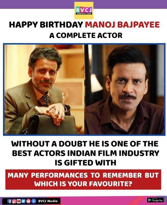 Happy Birthday Manoj Bajpayee! <3