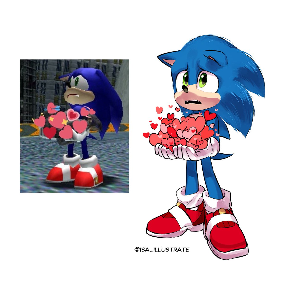 이사𝗜𝘀𝗮 통판배송진행중 On Twitter Redraw My Favorite Sonic Images In Sonicmovie Style