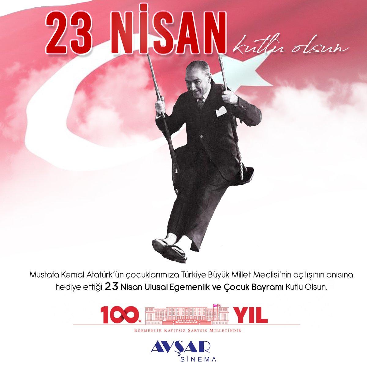 Mustafa Kemal Atatürk'ün çocuklarımıza Türkiye Büyük Millet Meclisi'nin açılışının anısına hediye ettiği 23 Nisan Ulusal Egemenlik ve Çocuk Bayramı Kutlu Olsun.  #23NisanKutluOlsun https://t.co/UzXqQX9ocZ