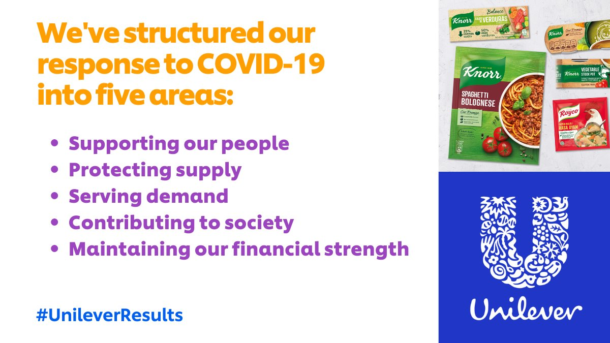 "Unilever #StaySafe on Twitter: ""Q1 Results 2020: Covid-19 is ..."
