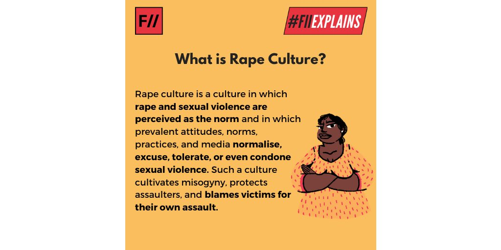 Rape culture trivialises peoples experience of sexual assault. When youre cracking a rape joke, youre doing the same. #FIIExplains #ThursdayThoughts #RapeCulture