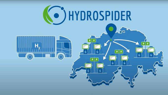 HYDROSPIDERvon Alpiq, H2 Energy und Linde in Betrieb