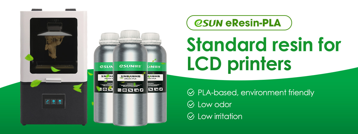 eSUN eResin-PLA helps #LCD #3dprinters users to easily produce a high-precision, tough and smooth resin print.      PLA-based, environment friendly, low odor and low irritation, it works great for both beginners and pros!    #eSUN #resin #3dprinting
