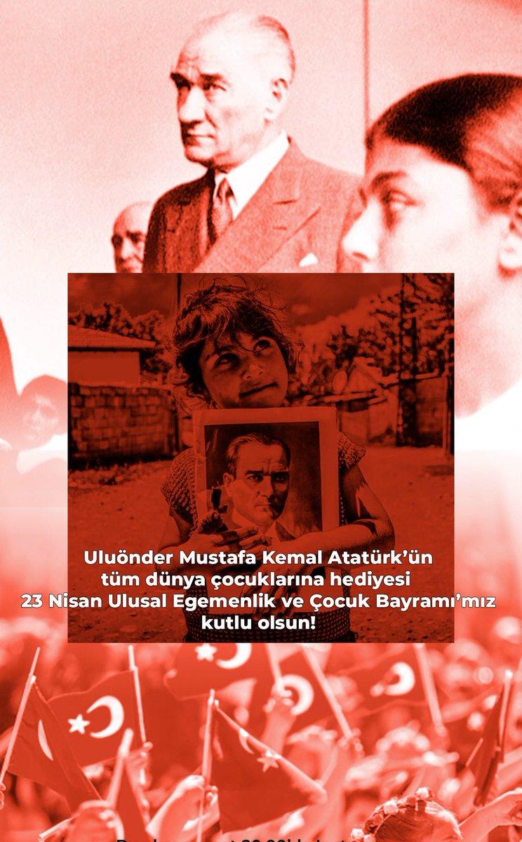 Uluönder Mustafa Kemal Atatürk'ün tüm dünya çocuklarına hediyesi 23 Nisan Ulusal Egemenlik ve Çocuk Bayramı'mız kutlu olsun! 🇹🇷 https://t.co/0a8U3y1N1p