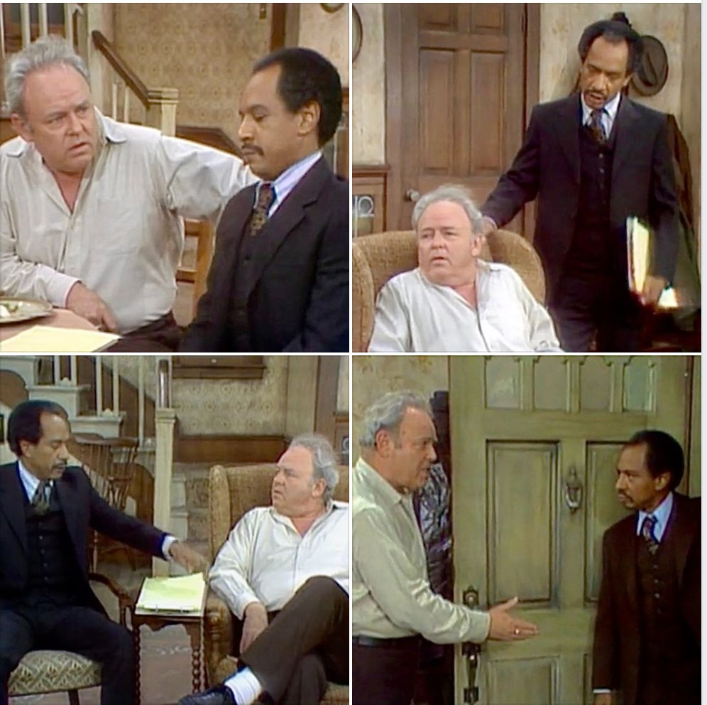 Why is George being nice to Archie?  #CarrollOConnor and #ShermanHemsley in ALL IN THE FAMILY — 5a ET on @getTV <br>http://pic.twitter.com/j83NC38GWo