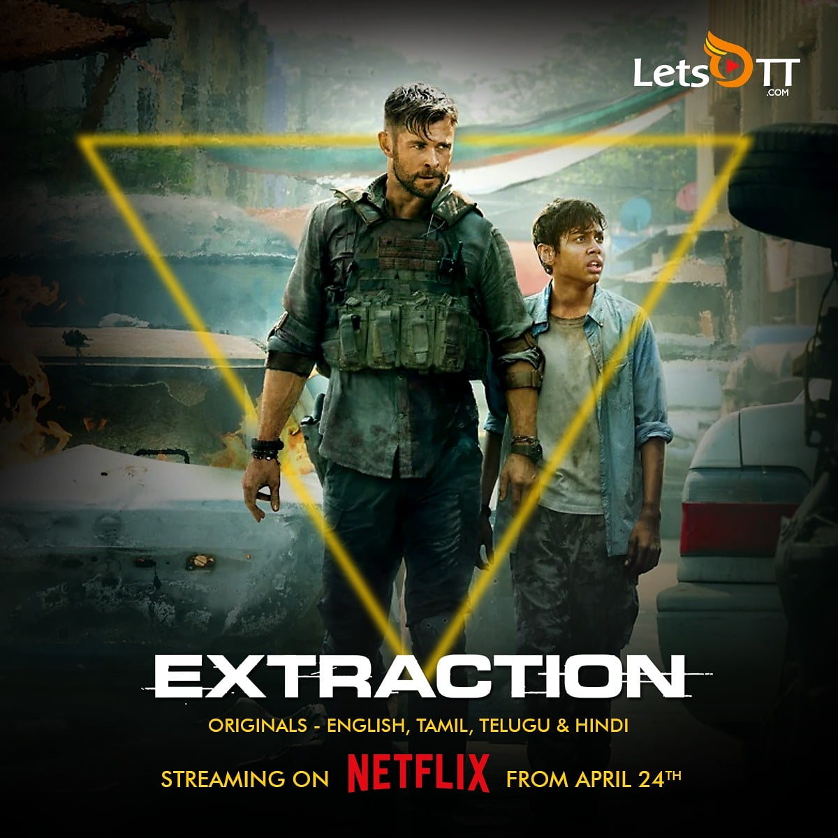 Letsott Global On Twitter Premier Alert Netflix Original Film Extraction Ft Chrishemsworth Will Stream In English Tamil Telugu And Hindi From April 24th 12 00 Am 12 30 Pm