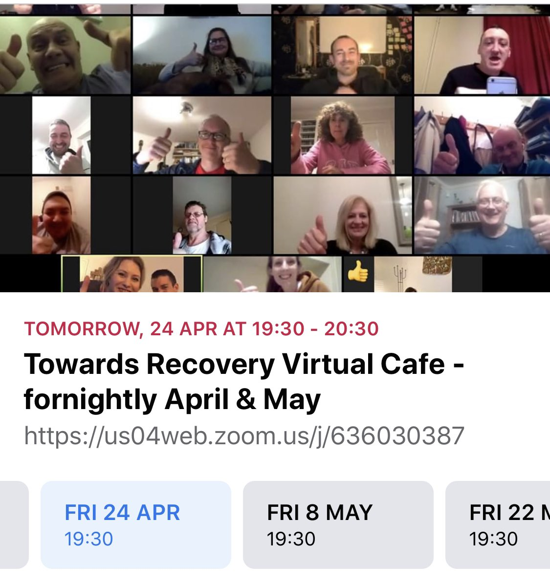 Thank you @T0wardsRecovery Brilliant meeting really enjoyed it. Thank you @owenbaily1982 for sharing your journey it was great to listen so many similarities and was great to hear how you dealt with everything. Thank you again all I will be back ❤️⬇️#recovery #RecoveryPosse https://t.co/f1aOXZaXsF