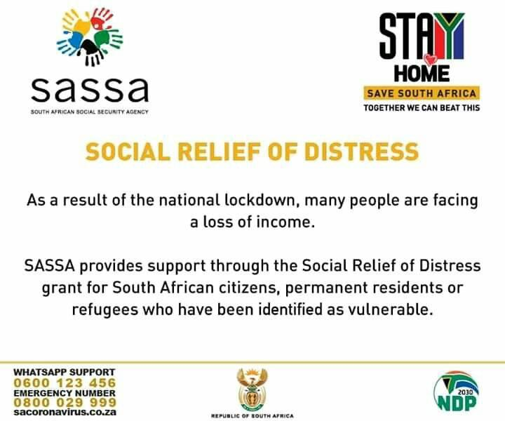 Right2know On Twitter Here S How To Apply For The Social Relief Of Distress Grant Ongazimakazi Covid 19 Southafricalockdown Day28oflockdown Https T Co 1erckhu0wn