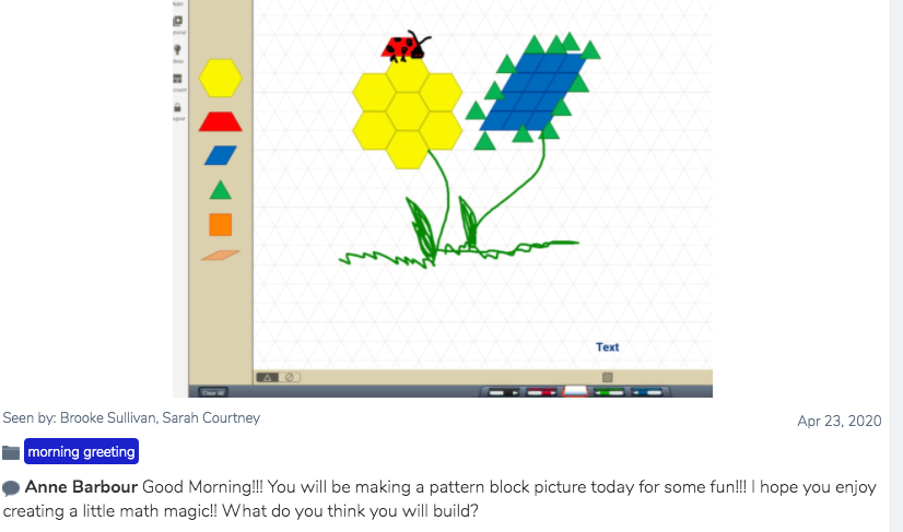 @ewgrsd app smashing @seesaw and @hand2mind virtual manipulatives to start the day off right!!!