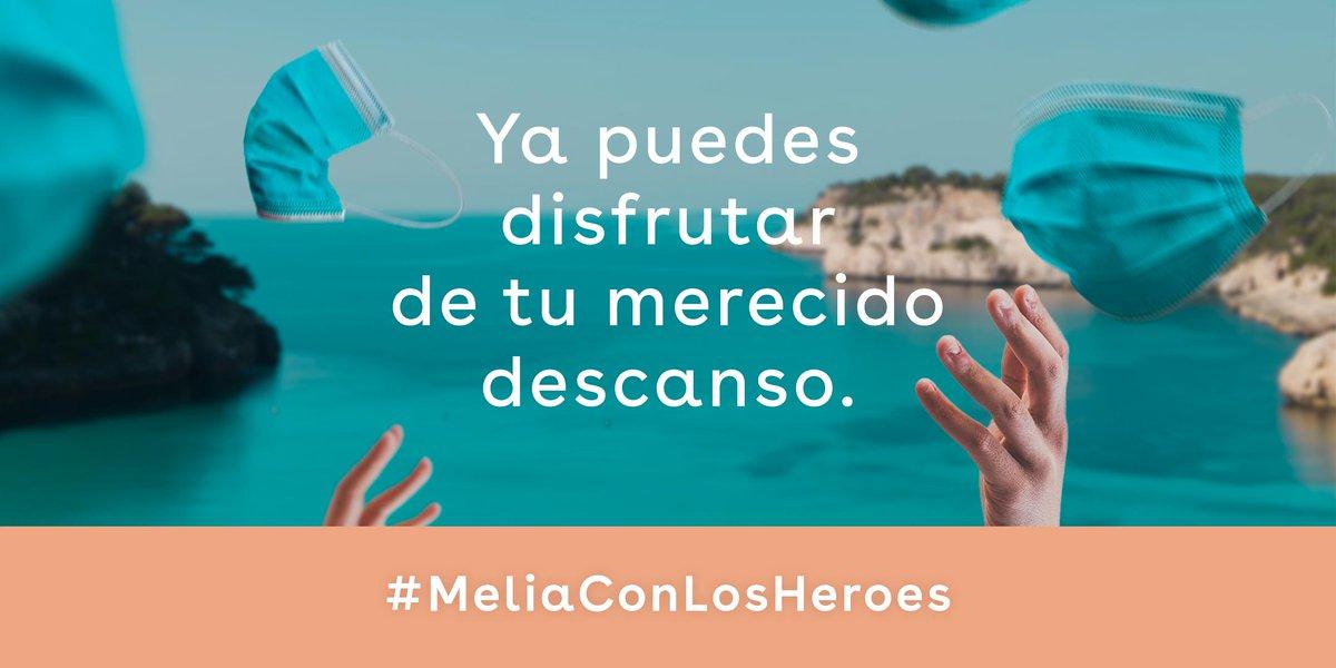 Ya hemos entregado 14000 noches de descanso a 7000 sanitarios en toda España. Gracias a los que habéis participado y los que nos ayudasteis a llegar a nuestros #HéroesSinCapa. Faltan 4 días para los que aún no lo habéis conseguido. #MeliáConLosHéroes > https://t.co/kxcM17THGF https://t.co/pkN8xXnMEZ