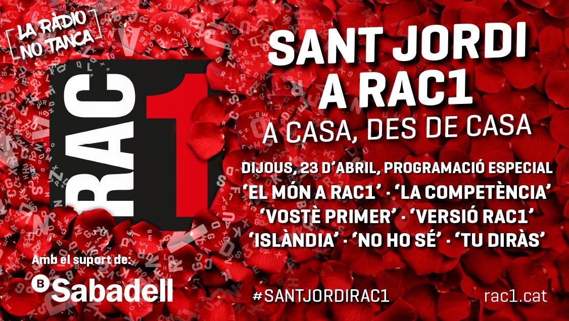 🌹 #SantJordiRAC1 📚  ⏰ Són 2/4 de 3 👋 Benvinguts al #PrimerToc 🎙 Amb @aleixparise ▶ https://t.co/mgiw08ja2R https://t.co/0RjddluILU