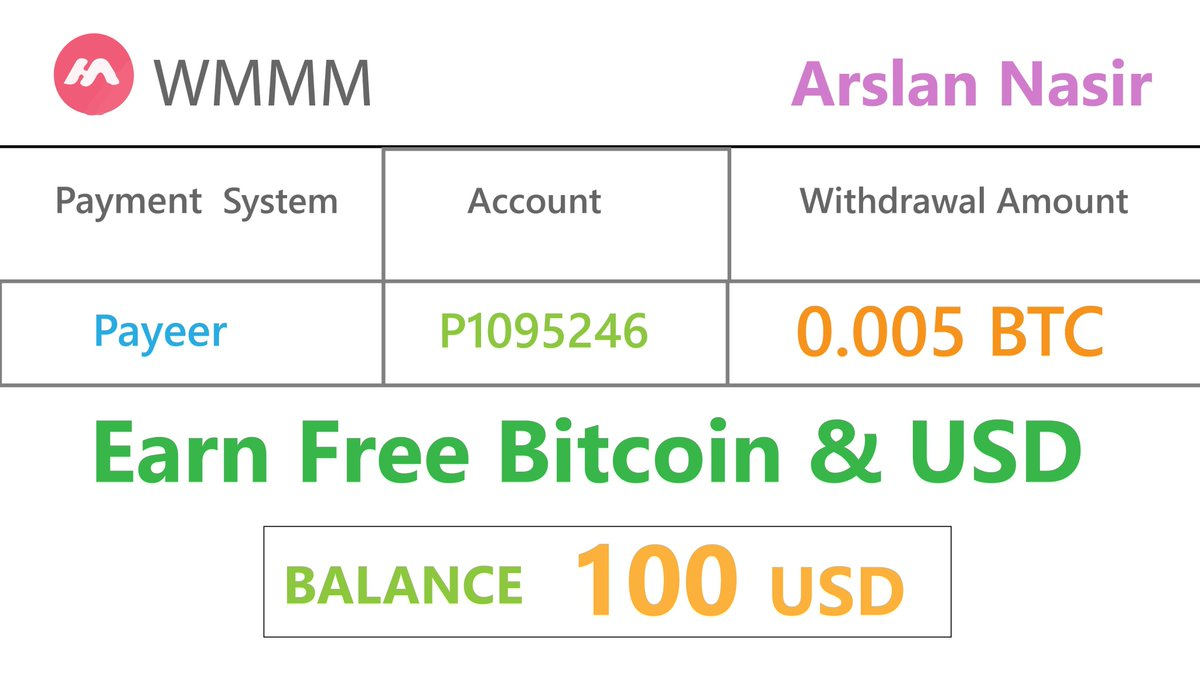 Hi Everyone Today i tell yOu about new free Bitcoin earning site #wmmm you can earn #freebtc #freeusd hope you like it. Website Joining Link Here: https://t.co/LQ7ujwqgiv Watch Full Video Here: https://t.co/TmiFoP1QhW https://t.co/LT9QMZJgCF