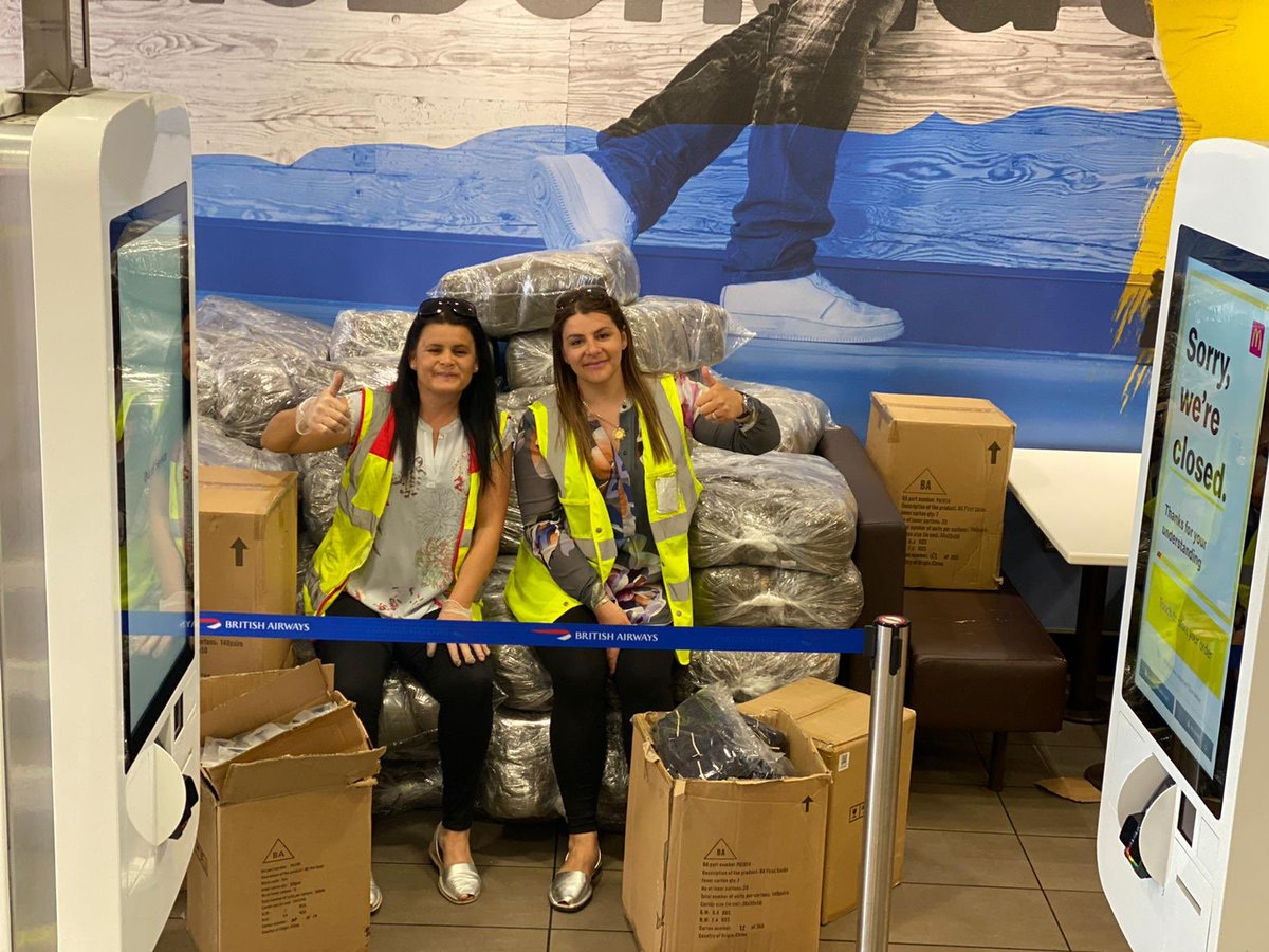 Thankful to British Airways for the delivery of donations today for the NHS #kindnesstravels #BAtogether #NHSThankYou https://t.co/kFRCtP2bB1
