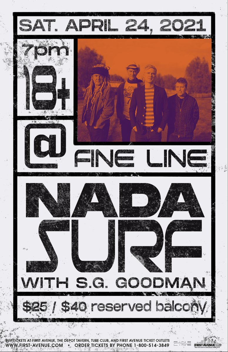 Just Announced: Nada Surf at the Fine Line on Saturday, April 24, 2021. This is a rescheduled date from June 4, 2020 – all tickets purchased for that date will be honored. Tickets → bit.ly/2O0AE5c