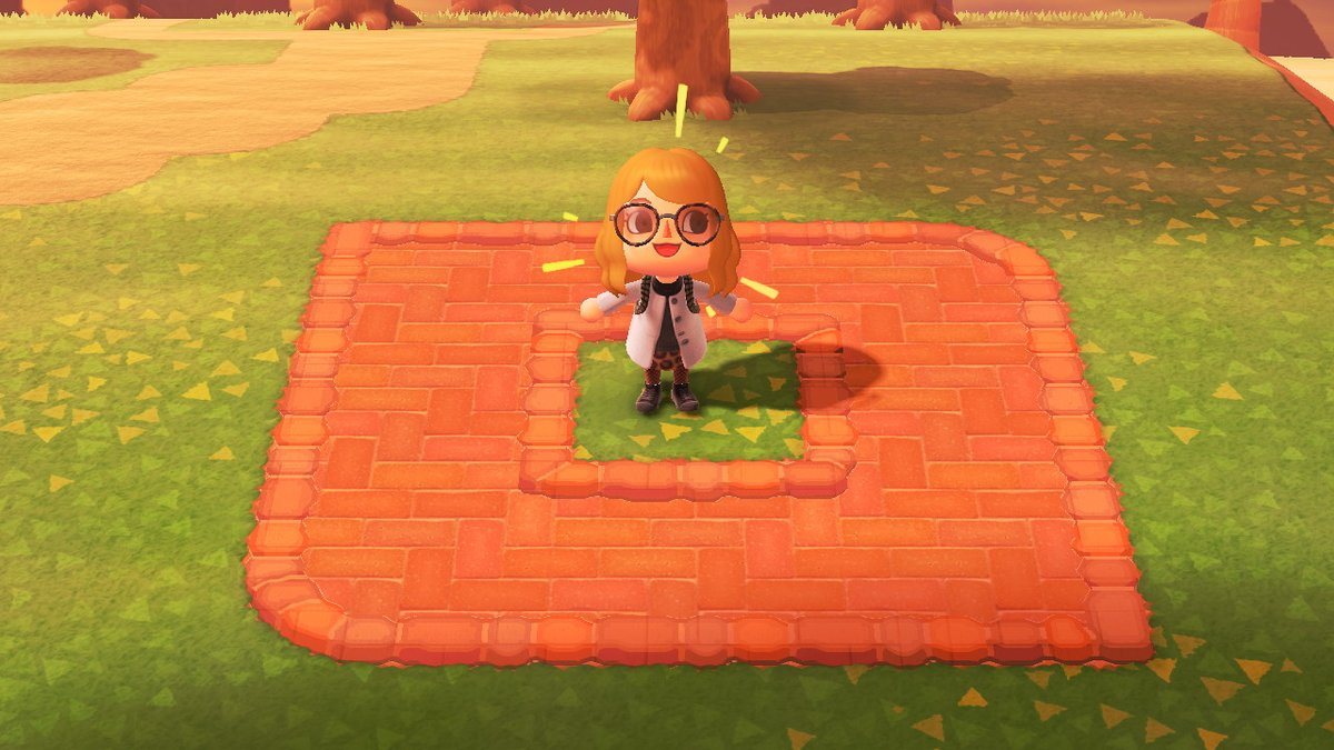 Picture of: Melissa On Twitter Finished A Brick Colored Version Of The Terracotta Border Will Make A Brick Shaped Version Too Animalcrossingnewhorizons Acnh Acnhdesign マイデザイン Https T Co Hirl60nqzo