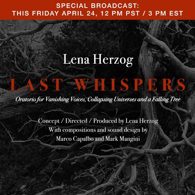 "test Twitter Media - Last Whispers is LIVE TOMORROW @dublab https://t.co/bbdib1CUFL. @Lena_Herzog's special collaboration w/ @ELARarchive brings together unaltered recordings of endangered & extinct languages. ""A very haunting and singular experience."" Headphones advised🎧 https://t.co/r7HXcA50F4 https://t.co/uO0w9yQE8m"