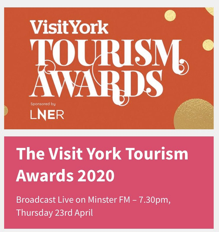There is a special broadcast on @minsterfm tonight at 7.30pm as Ben and Laura from the Breakfast Show announce the winners.We are finalists in the category - Small Hotel of the Year. We have got everything crossed.  Good luck everyone 🤞  #VYTA20 @VisitYorkBiz https://t.co/WS2zxLN0D0