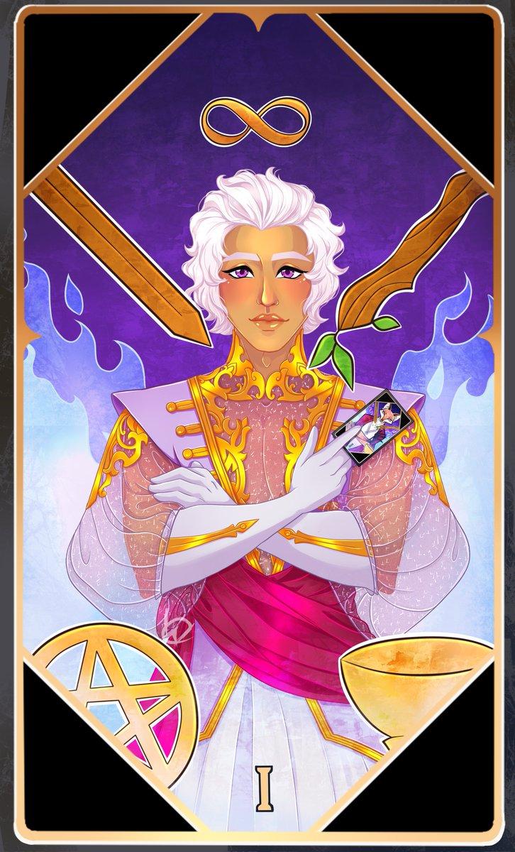 Asra as his Tarot Card The Magician  Asra belongs to @thearcanagame  #thearacna #thearcnagame #asra #asraalnazar #thearcanaasra #wackycherryartpic.twitter.com/vP1AKkFymj
