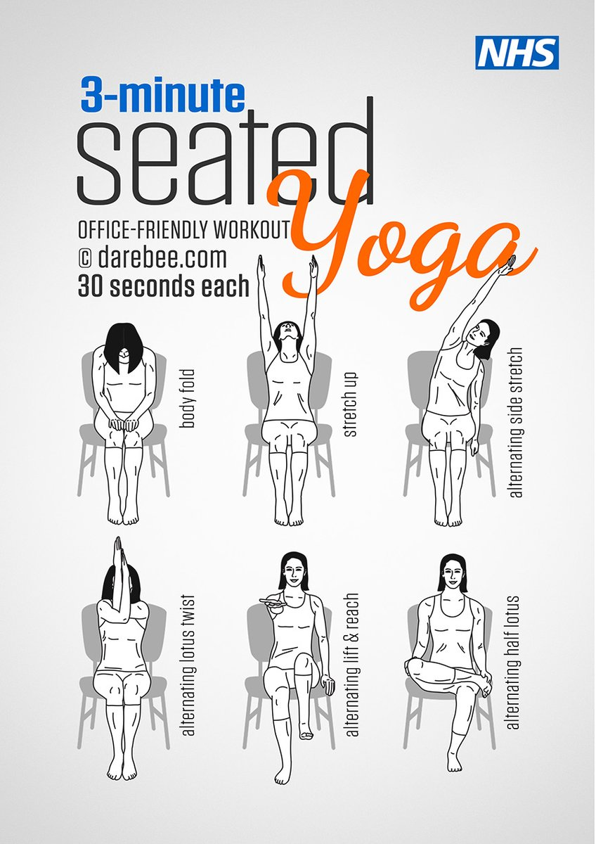 Release tension with this seated yoga routine. More gym free workouts here: https://t.co/R3XmnOe2jO https://t.co/V03b39uEOO