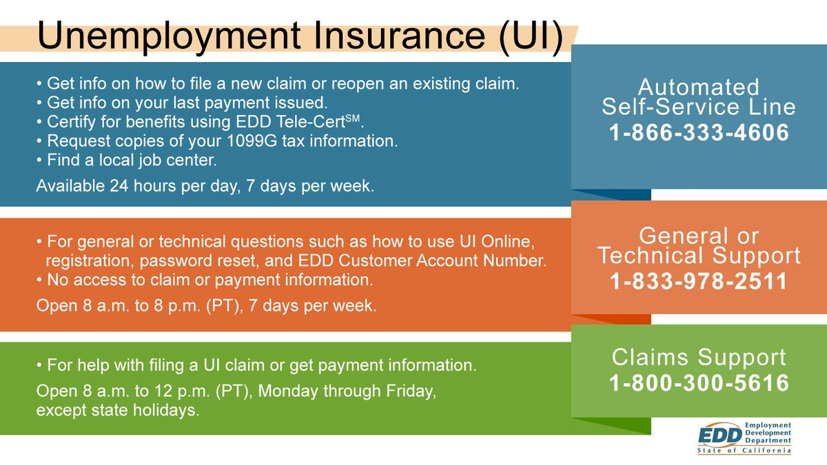 """EDD on Twitter: """"Important: UI Online is still the fastest way to file a  claim. You can also ask questions about your claim by selecting """"contact  us"""" on UI Online. Visit https://t.co/4D3ASO1HVM"""