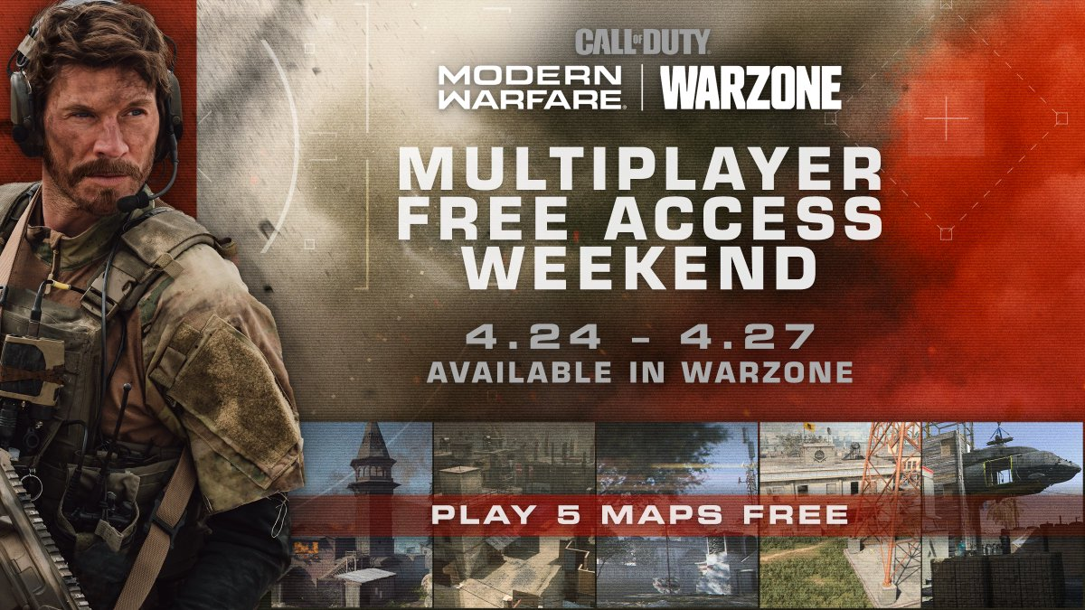 Call Of Duty On Twitter Prep The Squad Modernwarfare Multiplayer Free Access Weekend Is Coming To Warzone