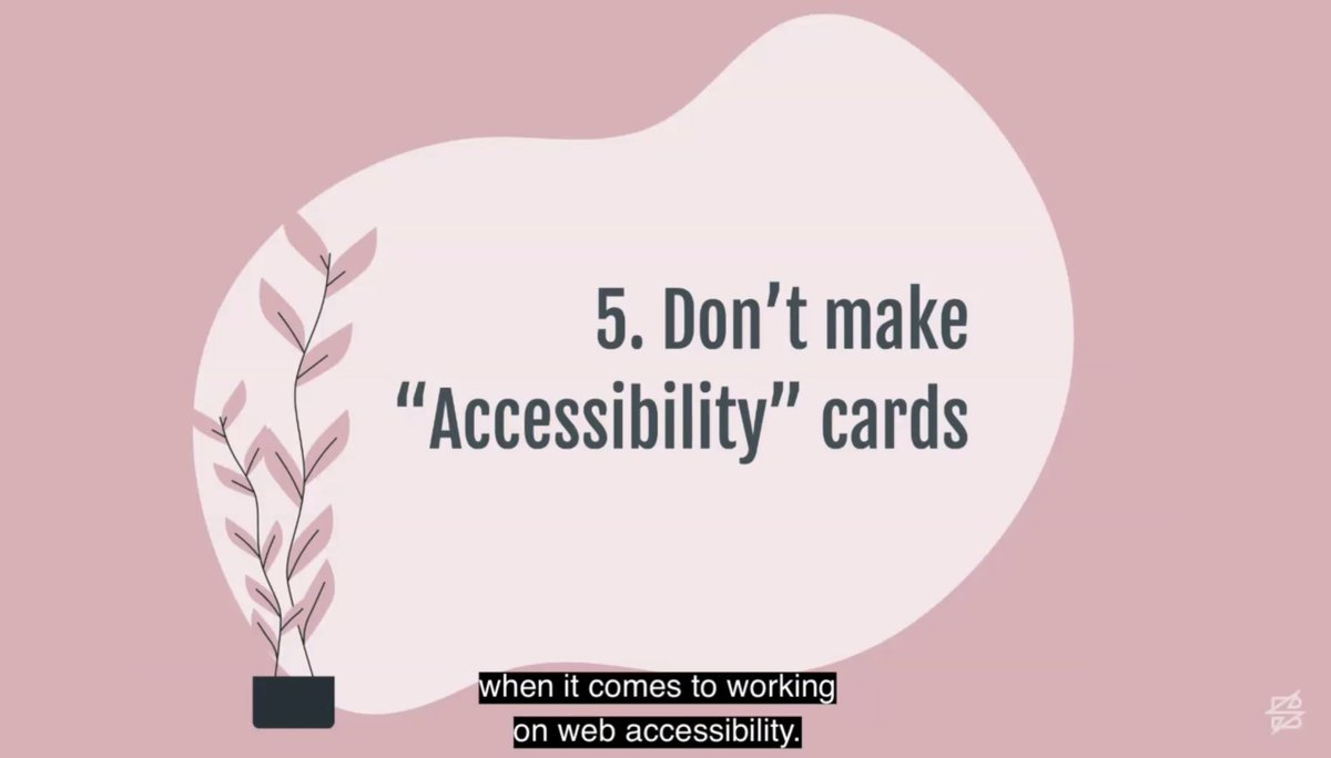 THIS IS SO GOOD. Accessibility bugs are just bugs. Include the accessibility work in all the other work... #sparkboxunconf via @corinnealing @hearsparkbox