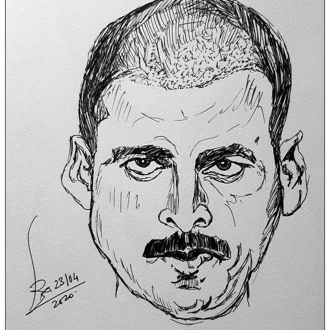 Happy birthday Sardar Khan Black pen on A4 paper