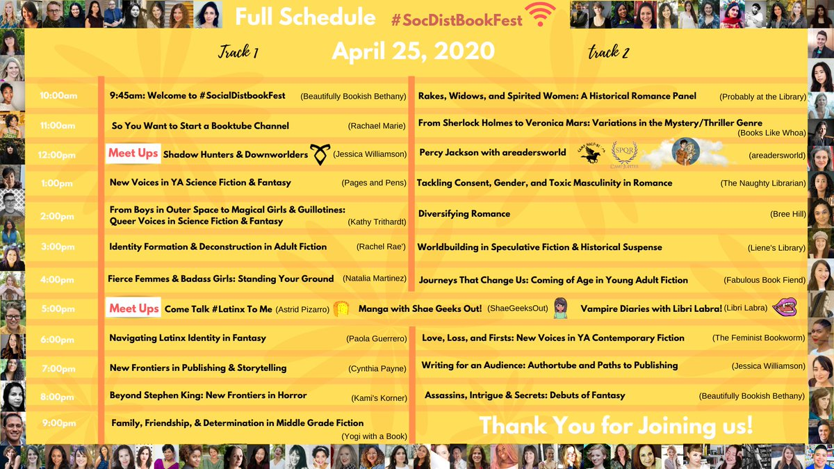 FULL SCHEDULE ! Click image for easy viewing! For you: Our website has all panels & livestreams linked for easy access. bit.ly/3eKc04m Aggregated YT playlist with all livestreams for your convenience :) bit.ly/2Y14FXZ Set your reminders! #socdistbookfest