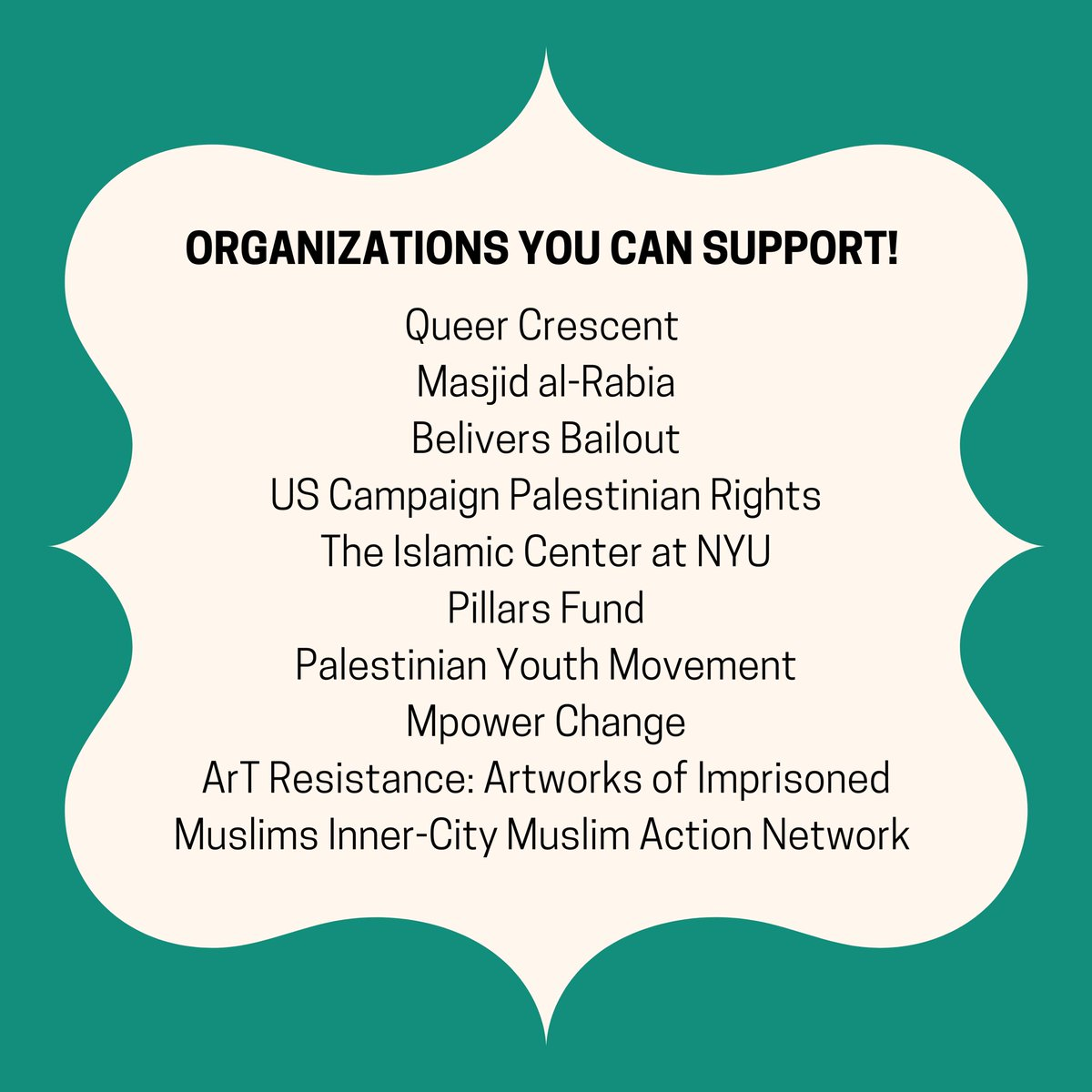 amazing organizations you can support that directly impacts Muslim communities #Ramadan