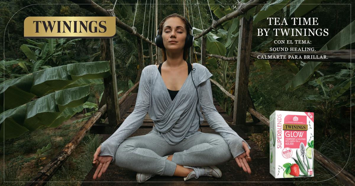 Glow de #TwiningsSuperblends te invita a compartir un Tea Time  sonoro dedicado a la sanación junto a @anapauyoga y @ZentromYoga . Entérate de los detalles 👉🏻 https://t.co/CPmB4E76As https://t.co/CjSnLxfyFu