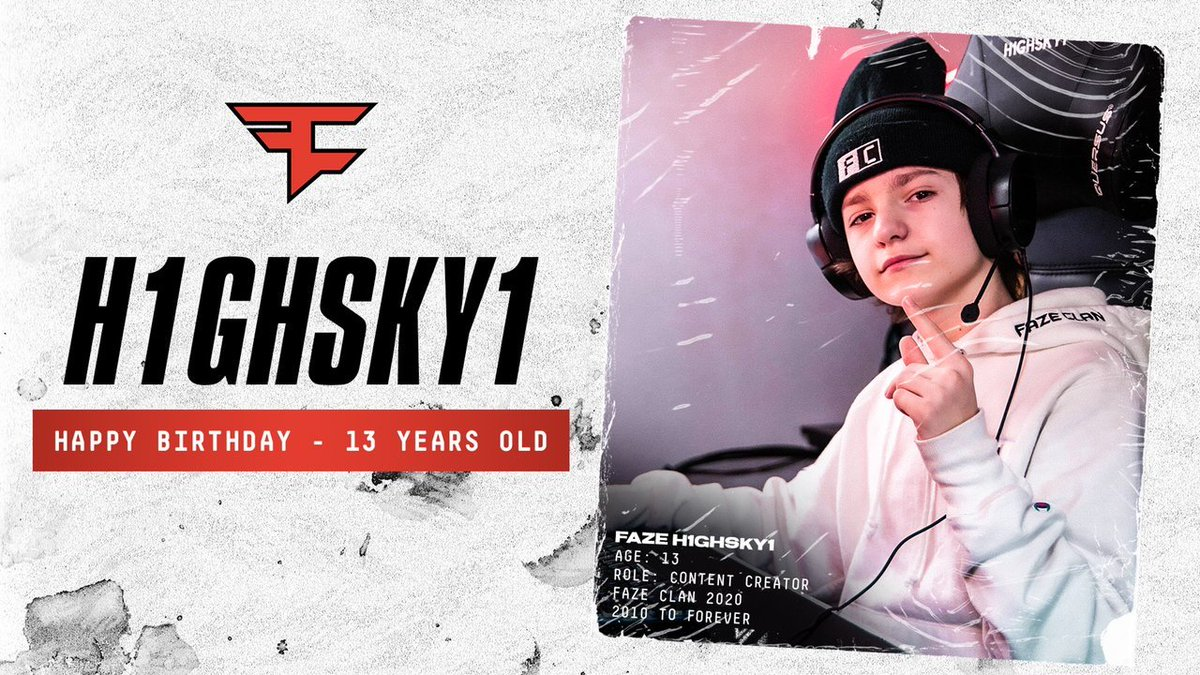 Happy 13th Birthday young king 👑 @FaZe_H1ghSky1 | #FaZeUp