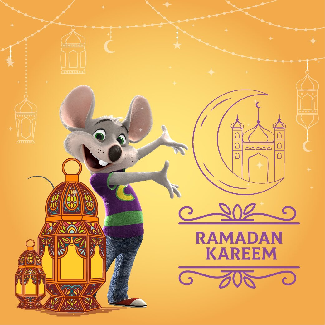 Chuck E. wishes Ramadan Kareem to all. May you and your loved ones be safe and blessed during this holy month.   #ramadan #staysafe #chuckecheese #chuckecheeseuae #chuckecheeseoudmetha #ibnbattutamall #birthdayparties #pizza #dubai https://t.co/XyUWN7vjp2