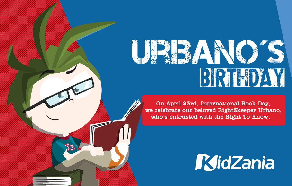On April 23rd, #InternationalBookDay 📕📗📘 we celebrate the birthday of our RightZKeeper #Urbano 🎂 #GetReadyForABetterWorld  /  23 de abril #DíaInternacionalDelLibro 📕📗📘 celebramos el cumpleaños de nuestro Guardían #Urbano 🎂#PrepárateParaUnMundoMejor https://t.co/6S1V4myoHS