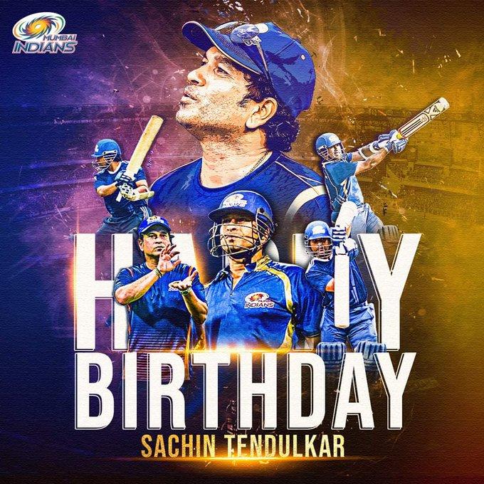 Happy birthday, Master  Sachin Tendulkar