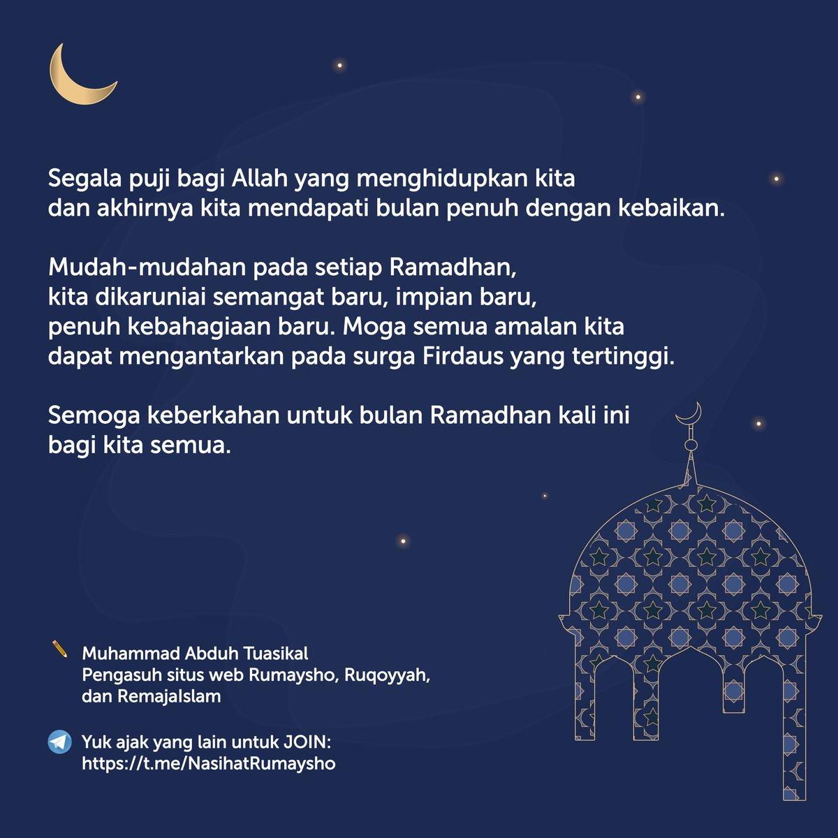 Replying to @RumayshoCom: Ramadhan, moga bawa berkah bagi kita semua.