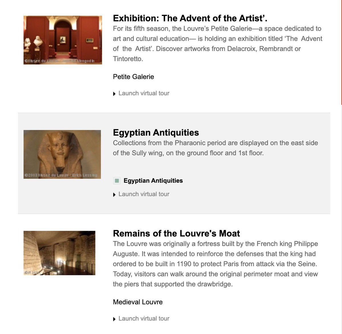 Tired of looking at your living room couch? Tour the Louvre! There are multiple online exhibits available online! https://t.co/MHav3QeXEG https://t.co/J3xB6aGckB