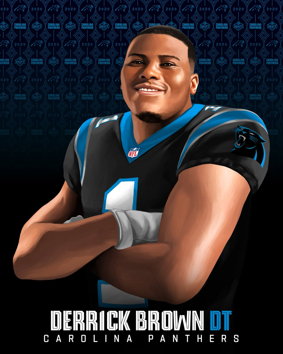 Newest addition to the @Panthers defensive line... @AuburnFootball DT @DerrickBrownAU5! #NFLDraft