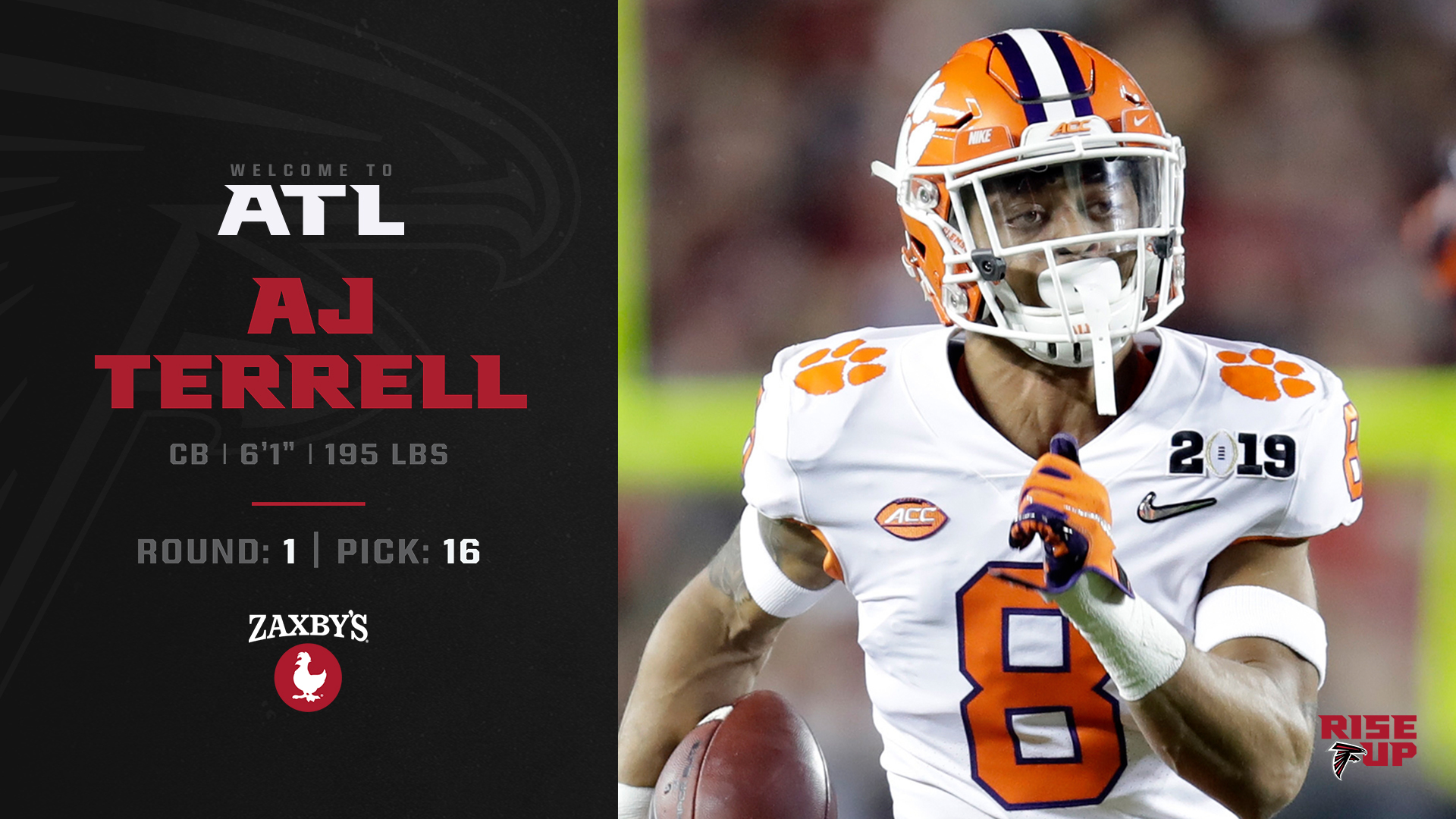 Atlanta Falcons On Twitter With The 16th Pick In The 2020 Nfl Draft We Have Selected Cb Aj Terrell Welcome To Atlanta Ajterrell 8 Https T Co Vwp4e2zj5m Https T Co Xgl4ij8q0w