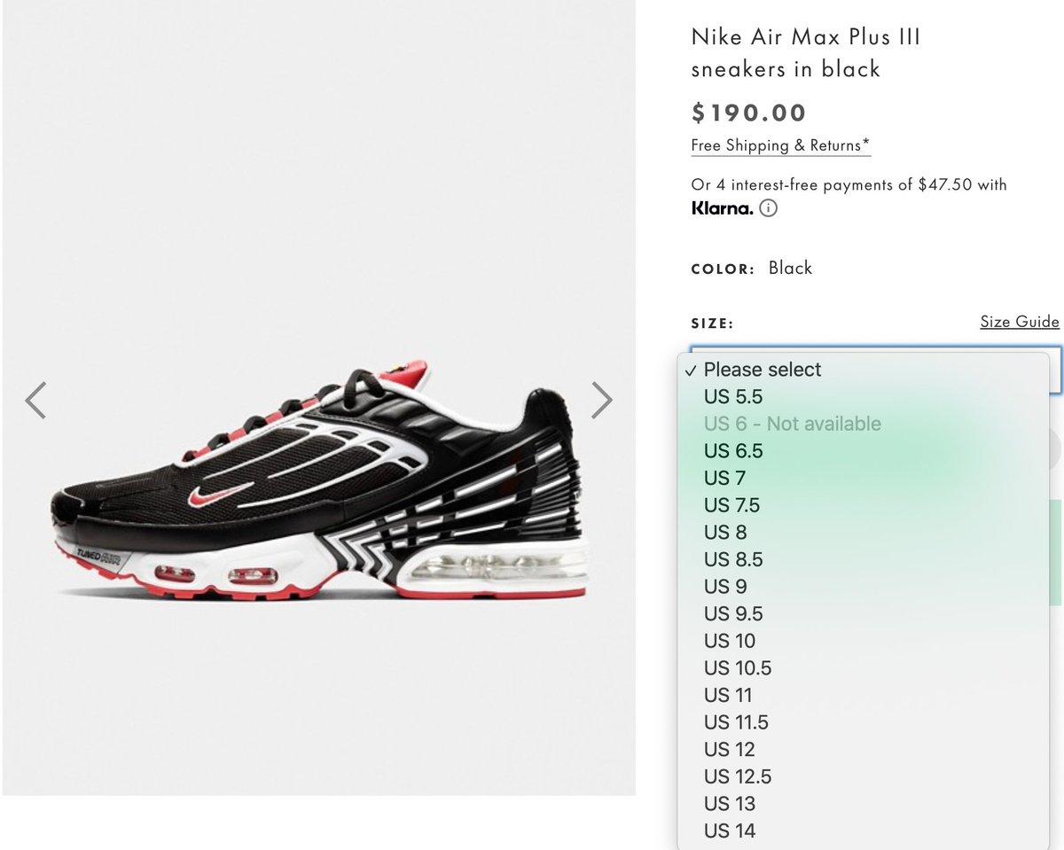 Ad: Nike Air Max Plus III 'Black' dropped via ASOS => https://t.co/RW95C13Iln https://t.co/st0MSn8DgX