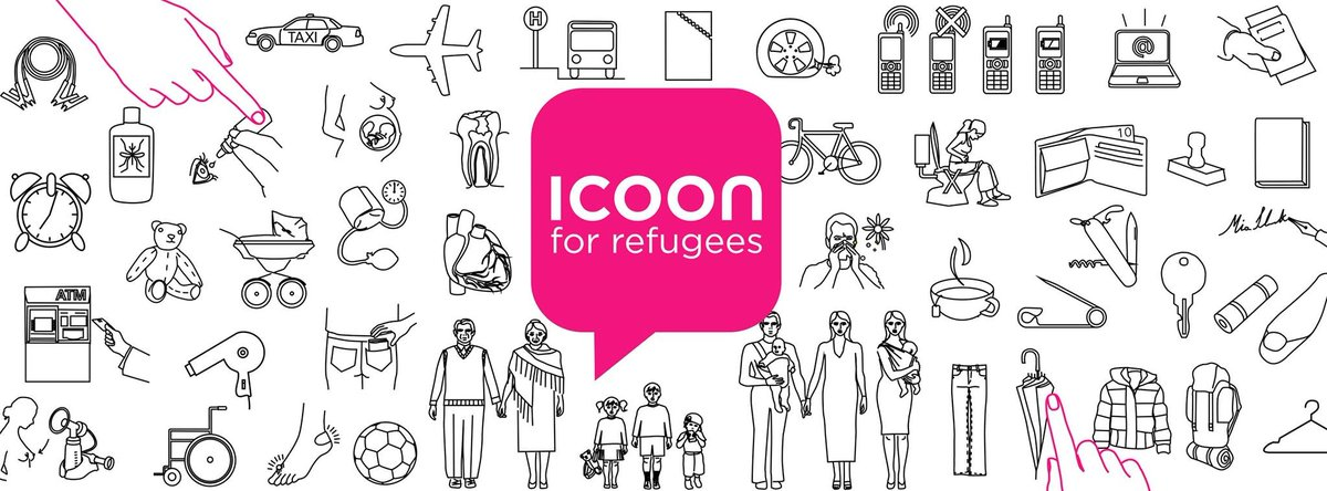 Have you heard of ICOON, an ingenious picture book that helps #refugees communicate?  #Design4Good  #VisualThinking   Download leaflets 👇🏾💟