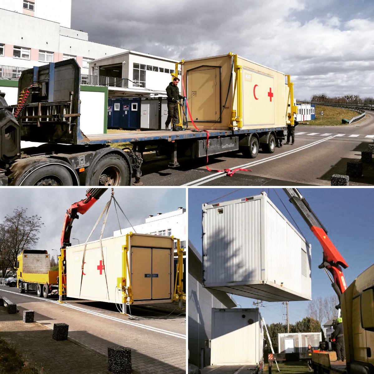 Delivering ALVO Mobile Hospital solutions • rapid deployment in tough pandemic conditions #emergency #emergencia #hospitalesdecampaña #fieldmedicine #covid_19 #mobilehospitals #wedoitforpatients #fightcovid19 #fightcoronavirus💪 #coronavirus #covid19 #covidhospital #doctor https://t.co/RbvCt5nsGS