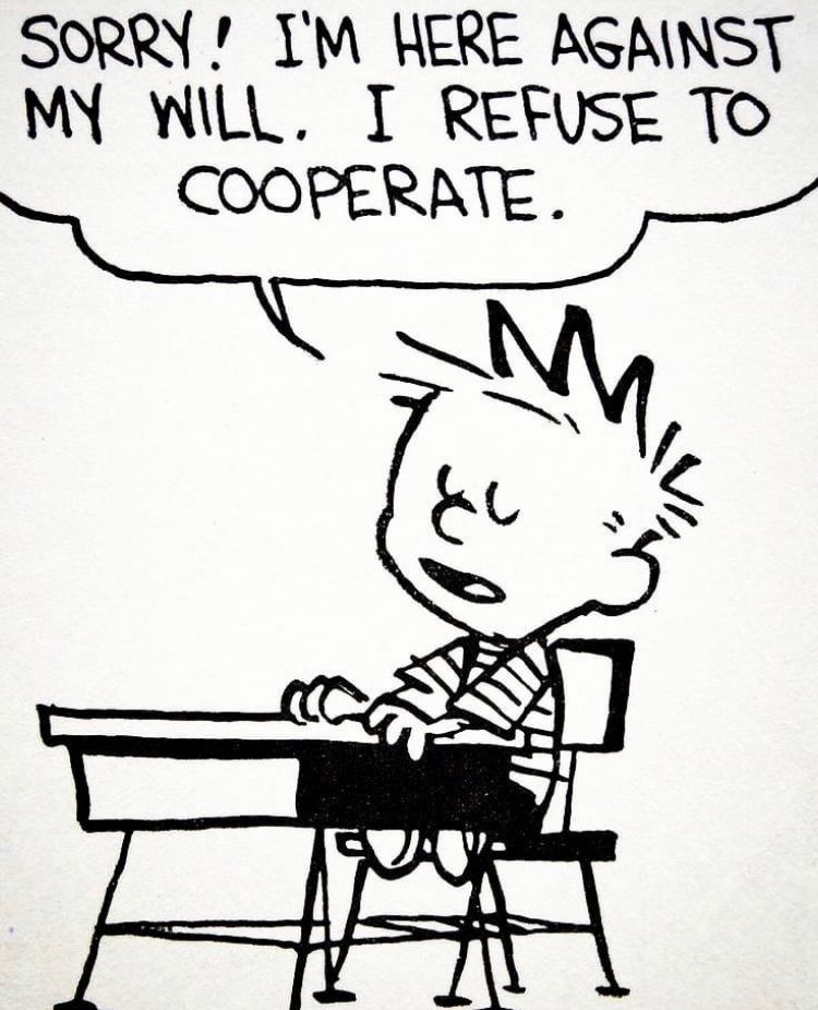 """Calvin and Hobbes on Twitter: """"😤… """""""