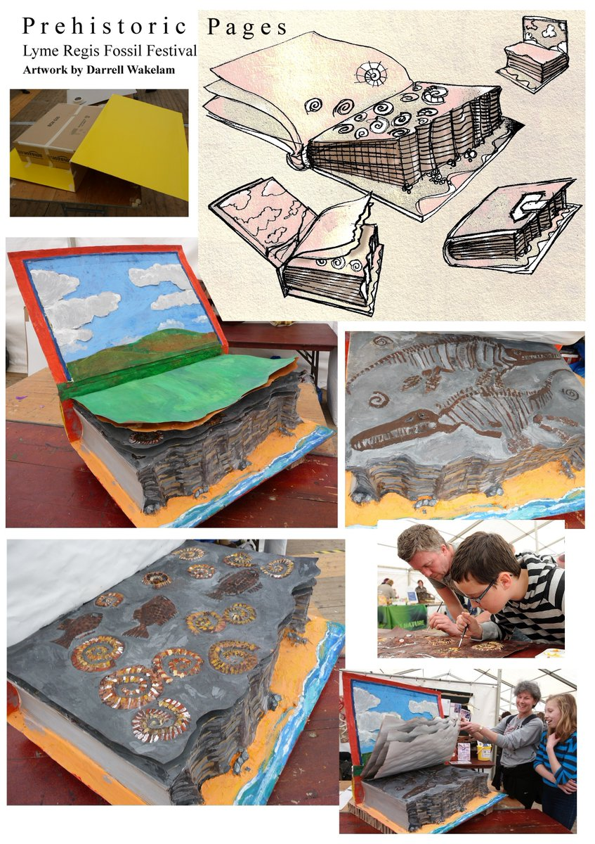 @Dean_R_Lomax Hi Dean, I did something with kids at the Fossil Festival in Lyme Regis a few years back along similar lines, turning back the pages of a book. It is really tricky for kids to understand, especially the time-scale involved.