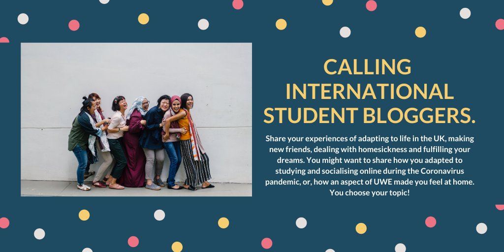 We want to publish your insight into studying @UWEBristol Entry (min 1000 words) + photo of you = chance to win £50 Amazon voucher. Rules: Be a current @UWEBristol / @UWEBICBristol student & send blog - globalstudents@uwe.ac.uk by 15/05/2020. Winner announced 18/05/2020 https://t.co/69PECZT3z3