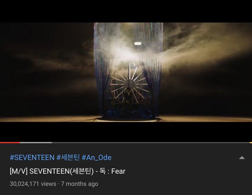 #SEVENTEEN_Fear has reached 30Million views!! @pledis_17 #SEVENTEEN